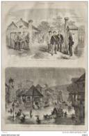 Inondations De L'Inde - Aspect Des Rues De Bombay - Un Corps De Garde Japonais - Page Original 1869 - Historical Documents