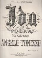 Spartito IDA Polka Per Pianoforte - ANGELO TONIZZO - Autografia Di E. BINI ROMA - Volksmusik