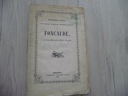 1846 Nouvelle Notice Sur Les Eaux Minérales Thermales Acidulés De Foncaude Montpellier Par Bertin 45 Pages Avec Tâches - Languedoc-Roussillon