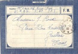 CARTE FRANCHISE MILITAIRE: 1940 - Marcofilie (Brieven)