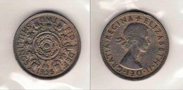 *  Grande Bretagne   2 Schilling Elisabeth II    Thimonier 211  * - 1902-1971 : Monnaies Post-Victoriennes