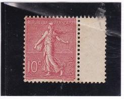 Yvert 129 Type III  Rose Foncé Bord De Feuille ** Sans Charnière Cote 40.00 - Neufs