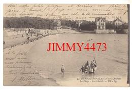 CPA - BUREAU-St-PALAIS 17 (C.-M.) La Plage Bien Animée En 1918 - Les Chalets - N° 54 - Edit. BR - 834 - Saint-Palais-sur-Mer