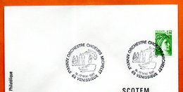69 VENISSIEUX   ORCHESTRE CHOEURS MICHELET  1981 Lettre Entière N° FG 407 - Gedenkstempels