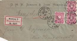 ALLEMAGNE 1882 LETTRE RECOMMANDEE DE HAMBURG AVEC CACHET ARRIVEE  BERLIN - Deutschland