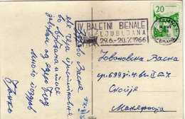 Yugoslavia Ljubljana - Slogan / Flamme / Machine Stamp 1966 IV Ballet Biennial In Slovenia - 1945-1992 République Fédérative Populaire De Yougoslavie