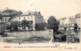 Belgique - Namur - La Sambre Et La Citadelle Vues De La Pointe Du Grognon - Namur