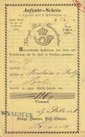 PREUSSEN 1861  AUFGABE-SCHEIN  OSNABRÜCK - Preussen