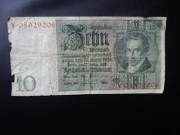 ALLEMAGNE : 10 REICHSMARK    22.1.1929   Lettre R     P 180a     AB - [ 4] 1933-1945 : Third Reich