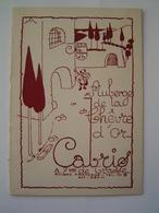 CARTE Ancienne : RESTAURANT - AUBERGE DE LA CHEVRE D' OR / CABRIS / ALPES MARITIMES - Publicités