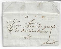 PREC. Griffe AUDENARDE Du 16/11/1777 Vers GHENDT Avec Contenu Voir Verso - 1714-1794 (Pays-Bas Autrichiens)