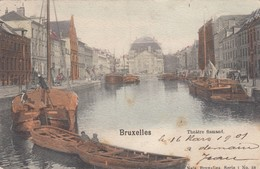 BRUXELLES / BRUSSEL / QUAI AU FOIN / FAUTE DE DESCRIPTION THEATRE FLAMAND DRUKFOUT   1901 - Transport (sea) - Harbour