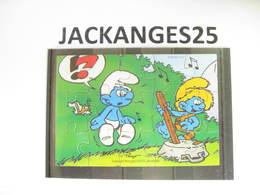 KINDER 1996 PUZZLE  K97 N 111  SCHTROUMPFS SCHTROUMPF SMURFEN  SANS OHNE WITHOUT BPZ - Puzzles