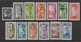 GRAND-LIBAN - YVERT N°50/62 * MLH CHARNIERE CORRECTE - COTE = 48.25 EUR. - Great Lebanon (1924-1945)