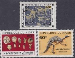 Niger  N° 379 / 81 XX  Archéologie ; Les 3 Valeurs Sans Charnière, TB - Niger (1960-...)
