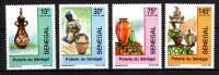 Sénégal N° 842 / 45  XX  Artisanat Indigène. Poterie Du Sénégal, Les 4 Valeurs Sans Charnière, TB - Senegal (1960-...)