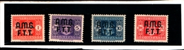 93420) ITALIA.- Trieste AMG-FTT- 1947-Segnatasse SOPR. SU 2  RIGHE-n° 1/4- 4 Valori MNH ** - MNH** - 7. Triest