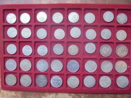 3eme REICH LOT 40 MONNAIES ARGENT 2+5 MARK 1934-1939 (POIDS TOTAL 424 GRAMMES) - Lots & Kiloware - Coins