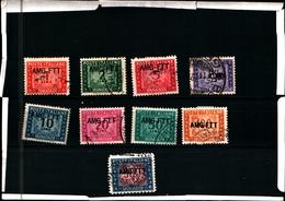 93421) ITALIA.- TRIESTE 1949 - 1953 TRIESTE -1949 SEGNATASSE SOPR. UNA RIGA 9 VALORI USATI - 7. Triest