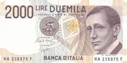 ITALIA BANCONOTA DA LIRE 2000  MARCONI SERIE HA 236975 F   FDS - 2000 Lire
