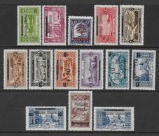 GRAND-LIBAN - YVERT N°84/97 * MLH CHARNIERE LEGERE - COTE = 51.75 EUR. - Great Lebanon (1924-1945)