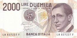 ITALIA BANCONOTA DA LIRE 2000  MARCONI SERIE LA 637237 F   FDS - 2000 Lire