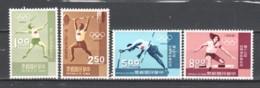 Taiwan 1968 Mi 690-693 MNH SUMMER OLYMPICS MEXICO - Zomer 1968: Mexico-City