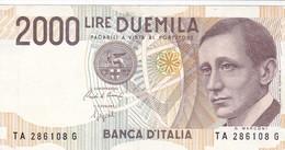 ITALIA BANCONOTA DA LIRE 2000  MARCONI SERIE TA 286108 G   FDS - 2000 Lire