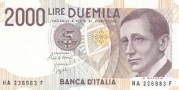 ITALIA BANCONOTA DA LIRE 2000  MARCONI SERIE HA 236983 F   FDS - 2000 Lire