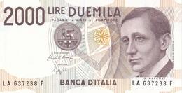 ITALIA BANCONOTA DA LIRE 2000  MARCONI SERIE LA 637238 F   FDS - 2000 Lire
