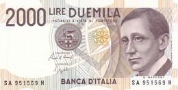 ITALIA BANCONOTA DA LIRE 2000  MARCONI SERIE SA 951569 H   FDS - 2000 Lire