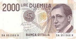 ITALIA BANCONOTA DA LIRE 2000  MARCONI SERIE SA 951568 H   FDS - 2000 Lire