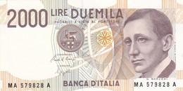 ITALIA BANCONOTA DA LIRE 2000  MARCONI SERIE MA 579828 A   FDS - 2000 Lire