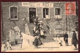 Saint-Pal-de-Chalencon Hôtel De Ville Sortie De Noce Mariés Mariage * Saint Pal De Chalencon - Le Forez Illustré N° 1011 - Other Municipalities