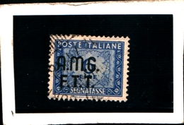 93424) ITALIA.- Trieste AMG-FTT- 1947-49- 6 LIRE-Segnatasse 2 RIGHE-Ruota USATO - 7. Triest