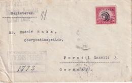 CANAL ZONE 1932 LETTRE RERCOMMANDEE DE BALBOA HEIGHTS AVEC CACHET ARRIVEE FORST - Canal Zone