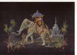 69 LYON Musee Historique Des Tissus Maison Tassinari Chatel Marque De Fabrique Decor Elephant Cornac Taffetas Brodé Soie - Lyon