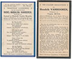 Middelkerke / 2x Bidprent Vanhooren / 1922/1923 - Devotieprenten