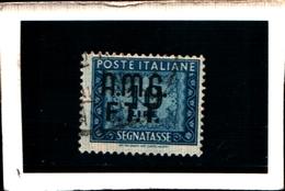 93426) ITALIA.- Trieste AMG-FTT- 1947-49- 10 LIRE-Segnatasse 2 RIGHE-Ruota USATO - 7. Triest