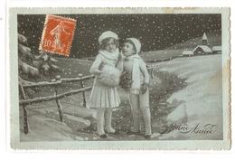 K 393, OLD  FANTASY  POSTCARD  , CHILDREN , FINE ART - Enfants