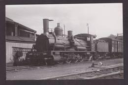 CPA Train Locomotive Gros Plan Carte Photo RPPC à Identifier Non Circulé - Trains