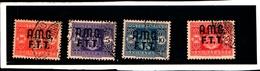 93428) ITALIA.- Trieste AMG-FTT- 1947-Segnatasse SOPR. SU 2  RIGHE-n° 1/4- 4 Valori USATI - 7. Triest
