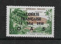"""N° 1125**, Avec Surcharge Patriotique """" ALGERIE Fse 13 MAI 1958 OAS """". - Unused Stamps"""