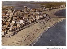 Palavas Les Flots - Vue Générale Aérienne Sur La Ville Et La Plage - Circulé 1962 - Palavas Les Flots