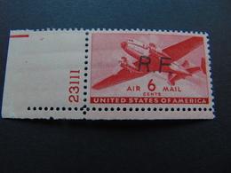 Magnifique 6 Cents Aérien Des Etats-Unis Avec Griffe Casablanca II - N°. Maury 9** - Authenticité Non Garantie - Wars