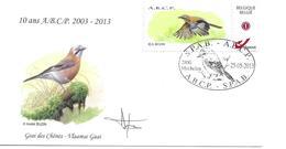 BUZIN Enveloppe 10 Ans De L'ABCP 25/05/2013 Duostamp Geai Des Chênes Enveloppe Signée Buzin - 1985-.. Birds (Buzin)