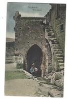 4497 - TAORMINA PORTA CATANIA ANIMATA DISEGNATA 1910 CIRCA - Altre Città