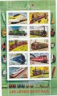 Collection Jeunesse Les Legendes Du Rail 2,30 Euros Faciales - Sheetlets