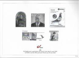 Belg. 2020 - Feuillet Noir & Blanc N° 2/5 ** -  (prévente 16/3/2020) - Feuillets Noir & Blanc