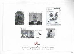 Belg. 2020 - Feuillet Noir & Blanc N° 2/5 ** -  (prévente 16/3/2020) - Zwarte/witte Blaadjes